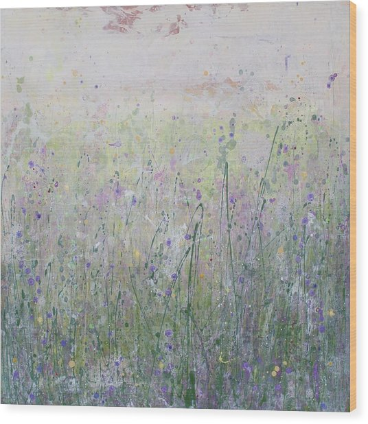 Buttercups And Bluebells Wood Print
