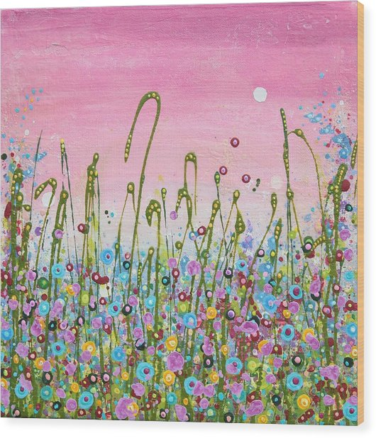 Buttercups And Lilacs Wood Print