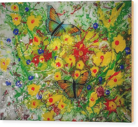 Butterfly Delight Wood Print