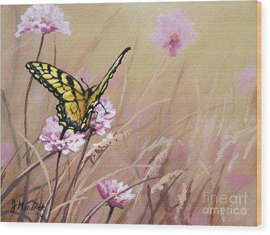 Butterfly Meadow - Part 1 Wood Print
