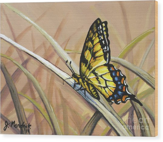 Butterfly Meadow - Part 2 Wood Print