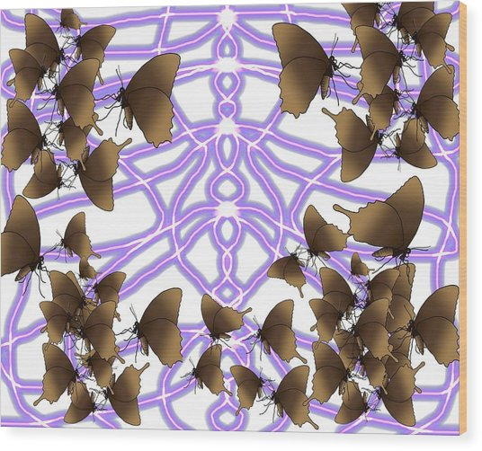 Butterfly Patterns 14 Wood Print