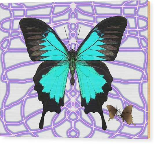 Butterfly Patterns 18 Wood Print