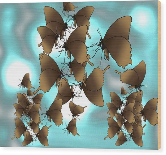Butterfly Patterns 7 Wood Print