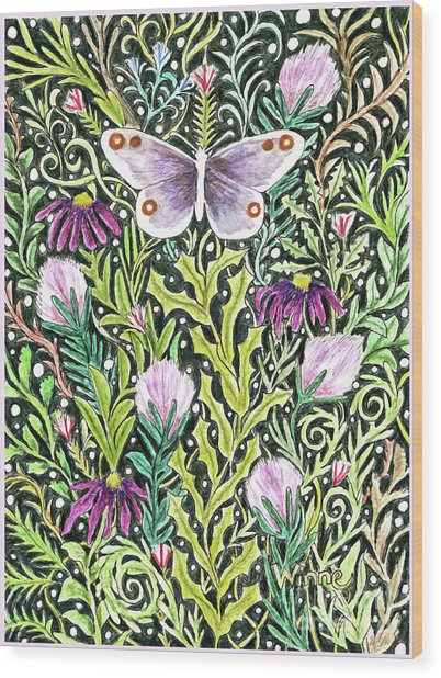 Butterfly Tapestry Design Wood Print