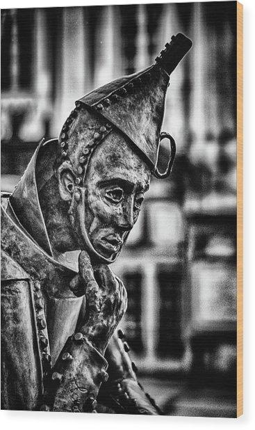 Bw Tinman Wood Print