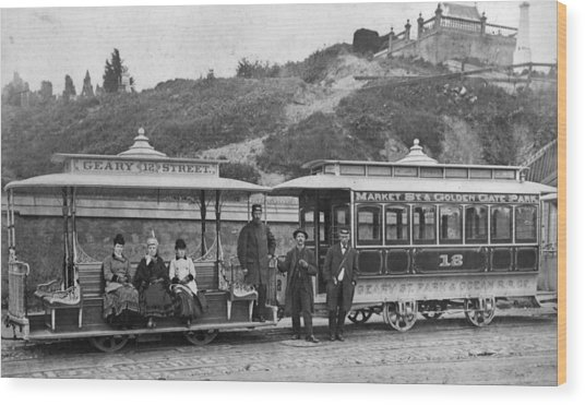 Cable Street Car Wood Print by Taber Photo San Francisco