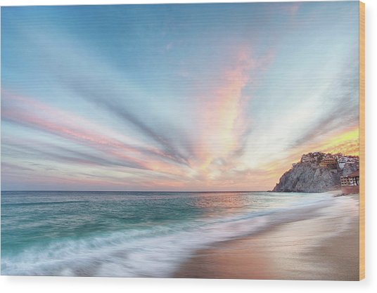 Wood Print featuring the photograph Cabo San Lucas Beach Sunset Mexico by Nathan Bush