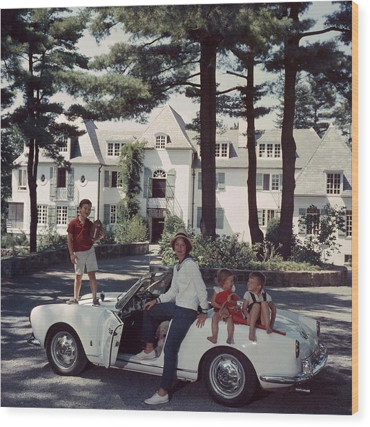 Cabot Family Wood Print by Slim Aarons