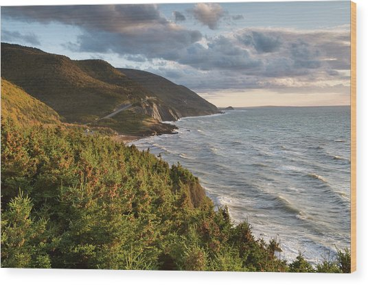 Cabot Trail Scenic Wood Print by Shayes17