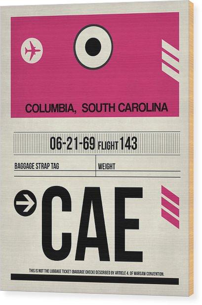 Cae Columbia Luggage Tag I Wood Print
