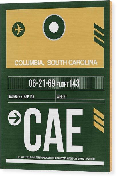 Cae Columbia Luggage Tag II Wood Print