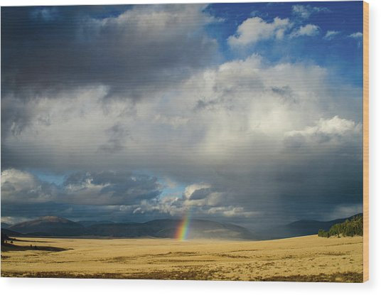 Caldera Rainbow Wood Print