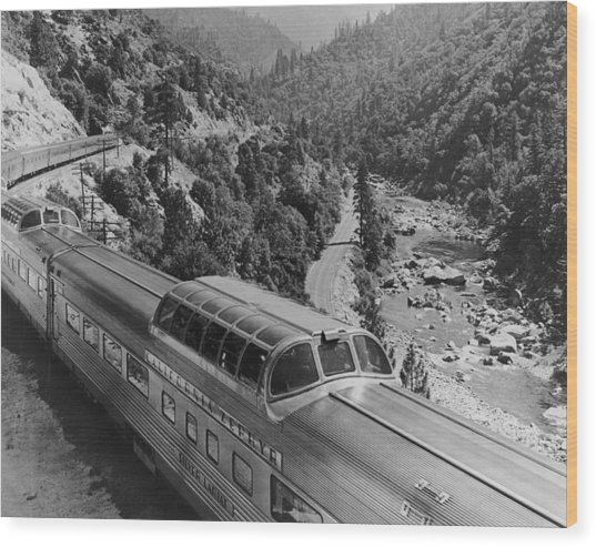 California Zephyr Wood Print by Pictorial Parade