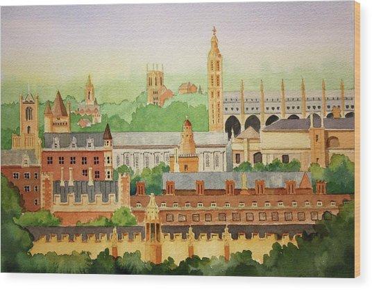 Cambridge Uk Wood Print