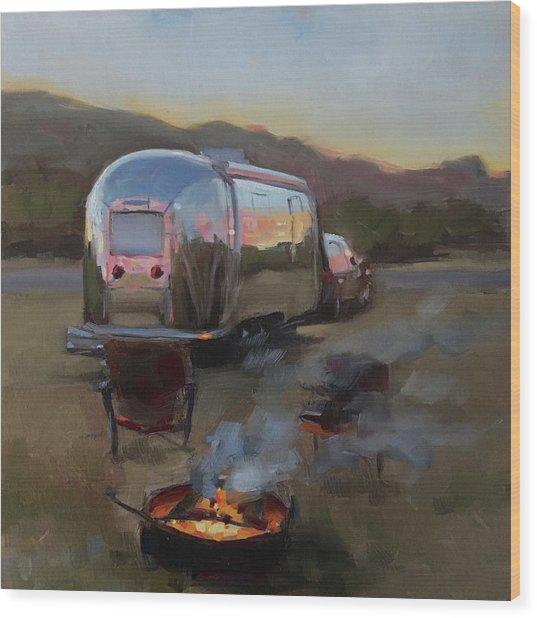 Campfire At Palo Duro Wood Print