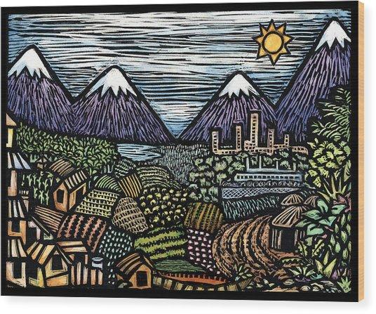 Campo Wood Print by Ricardo Levins Morales