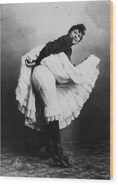 Can-can Dancer Wood Print by Hulton Archive