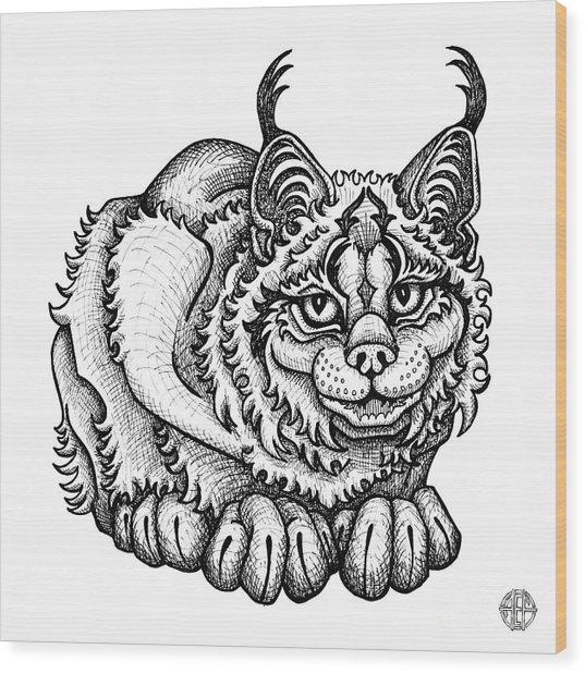 Canada Lynx Wood Print