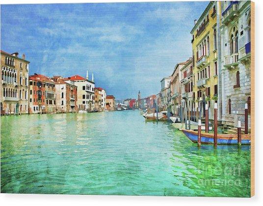 Canal Grande Wood Print