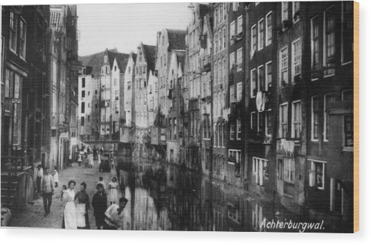 Canalside Houses Wood Print by Hulton Archive