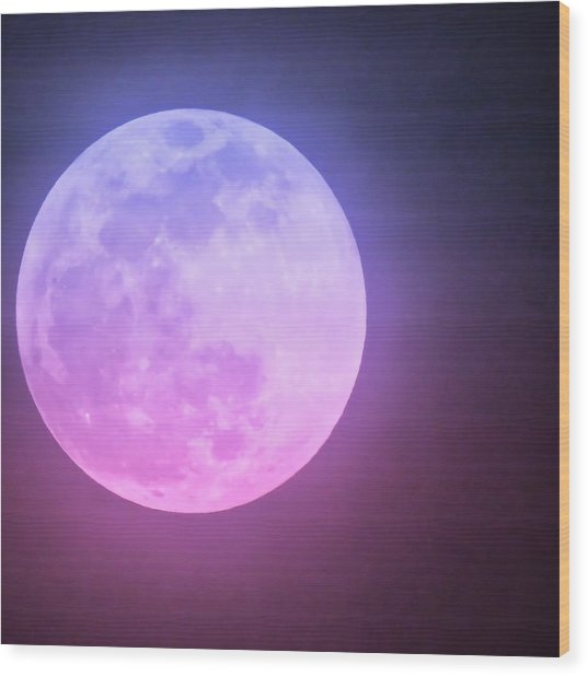 Cancer Super Wolf Blood Moon Near Eclipse Wood Print