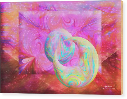 Candy Universe Wood Print
