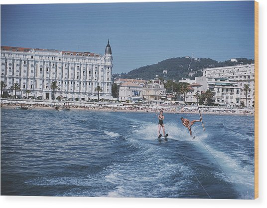 Cannes Watersports Wood Print