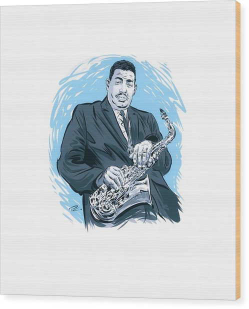 Cannonball Adderley  - By Paul Cemmick Wood Print