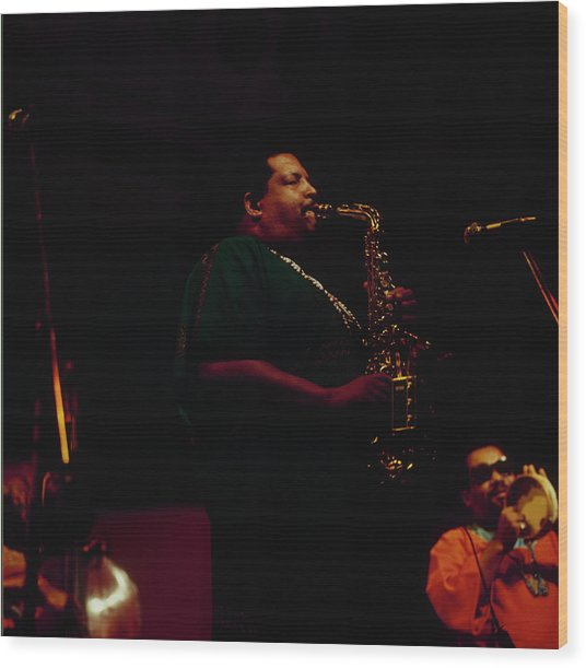Cannonball Adderley Performs At Newport Wood Print by David Redfern