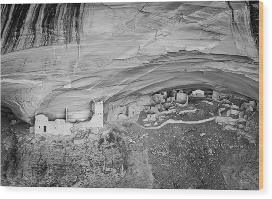 Wood Print featuring the photograph Canyon De Chelly V Bw by David Gordon