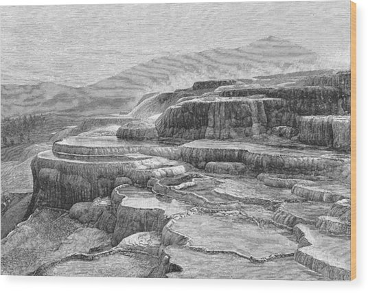 Canyons Of Yellowstone National Park Wood Print by Kean Collection