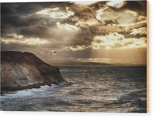 Cape Breton Winter Sunset Wood Print