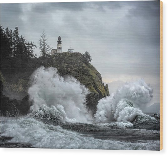 Cape Disappointment Chaos Wood Print