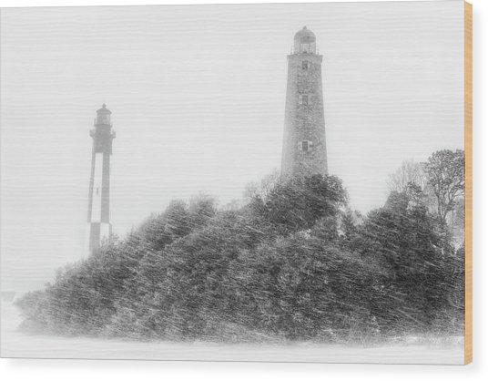 Cape Henry Wood Print