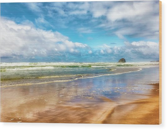 Cape Kiwanda Beach Wood Print
