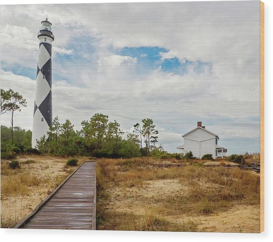 Cape Lookout Lighthouse No. 2 Wood Print
