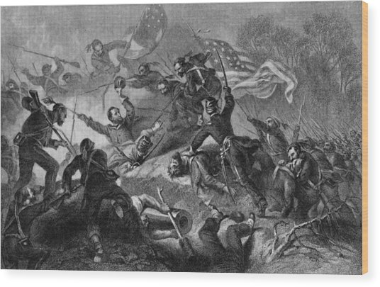 Capture Of Roanoke Wood Print by Kean Collection