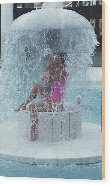 Caracalla Therme Wood Print by Slim Aarons