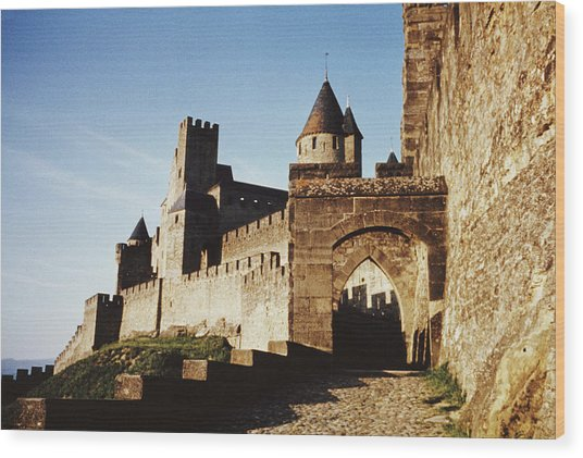 Carcassonne Wood Print by Archive Photos