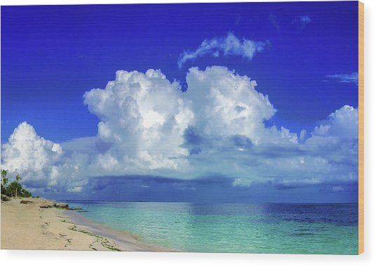 Caribbean Clouds Wood Print