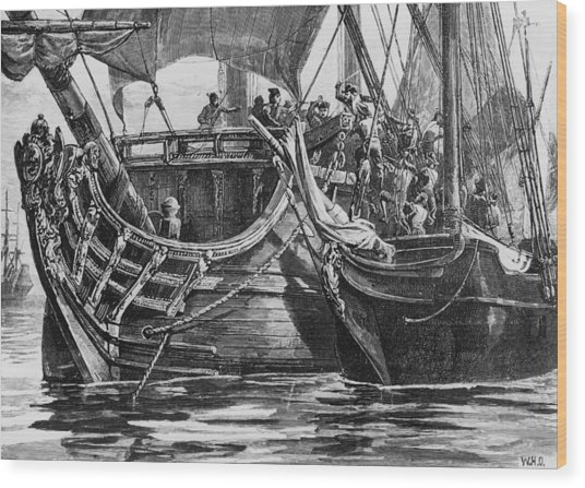 Caribbean Pirate Wood Print by Hulton Archive