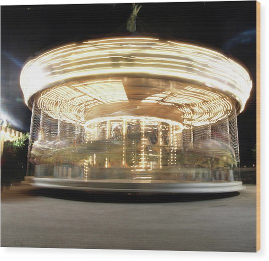 Wood Print featuring the photograph Carousel  by Edward Lee