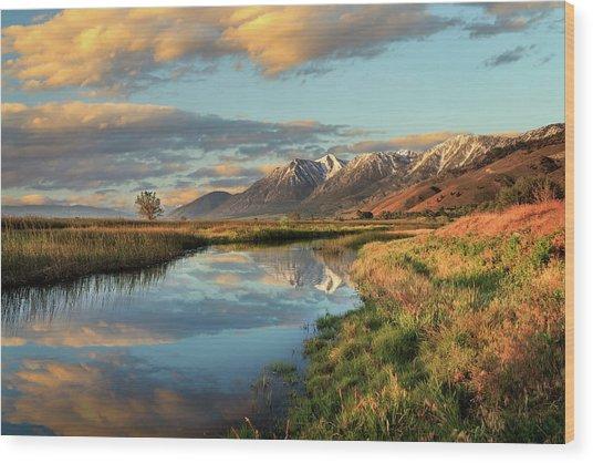 Carson Valley Sunrise Wood Print