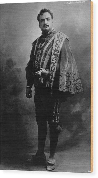 Caruso In Rigoletto Wood Print by Hulton Archive
