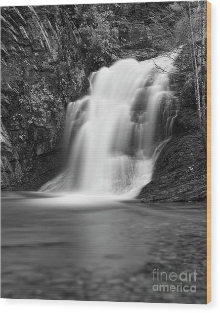 Wood Print featuring the photograph Cascade 1 Bw by Patrick M Lynch