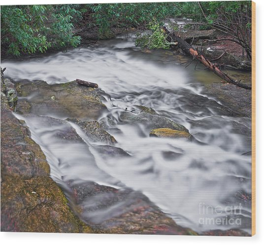 Wood Print featuring the photograph Cascade 3 by Patrick M Lynch