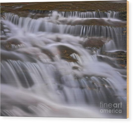 Wood Print featuring the photograph Cascade 5 by Patrick M Lynch