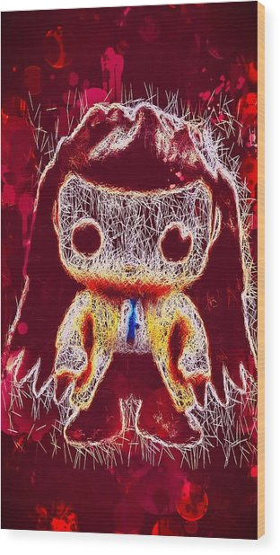 Castiel Supernatural Pop Wood Print