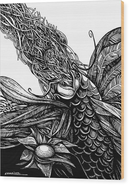 Castaway Fish Wood Print